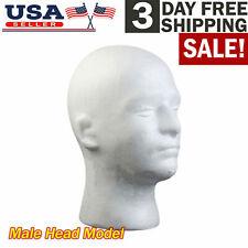 Male Foam Mannequin Head Model Hat Glasses Wig Manikin Display Stand Us Stock