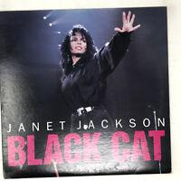 "Janet Jackson Black Cat Vinyl Record Original 1989 12"" Single"