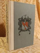 1939 Troilus and Cressida Chaucer SIGNED by Designer/Publisher George Jones RARE