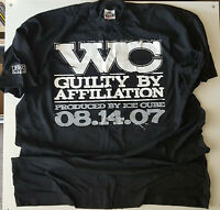 WC GUILTY BY AFFILIATION PROMO T SHIRT XXXL BLACK RARE 07 LENCH MOB HIP HOP TEE
