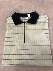 Tail Women's Polo Style Zip Neck Golf Shirt Large Light Green