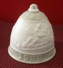 Lladro Porcelain 1988 Christmas Bell Collectible Ornament Spain A169