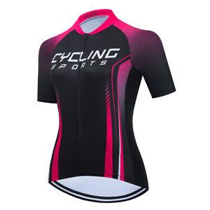 Women's Cycling Jersey Clothing Bicycle Sportswear Short Sleeve Bike Shirt J024