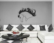 ik655 Wall Decal Sticker head horse nag pet stallion thoroughbred horse bedroom