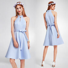 Polyester A-Line Dresses for Women with Belt