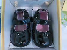 STRIDE RITE ROBEEZ Ms PLAINE JANE BLACK SIZE 2 3-6 Mos Black Patent Leather NIB