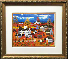 "Jane Wooster Scott ""Bountiful Harvest""  CUSTOM FRAMED ART  Autumn Pumpkin"