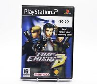 TIME CRISIS 3 RARE PROMOTIONAL COPY Sony PlayStation 2 PS2 Namco PAL Game Promo