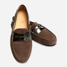 Dark Brown Suede Ladies Driving Shoe Moccasin