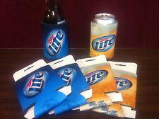 Miller Lite It's Miller Time Beer Can Bottle Cooler Koozie Coozie - New - 3 Each