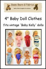 """4"""" Baby Doll Clothes Pattern - Fits VINTAGE BABY KELLY"""