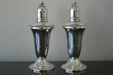 Vintage Raimond Glass Lined Sterling Silver Salt & Pepper Shakers  Weighted  #R