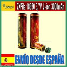 2X PILA RECARGABLE 18650 3000mAh Li-ion 3,7V TrustFire Litio Batería Protección