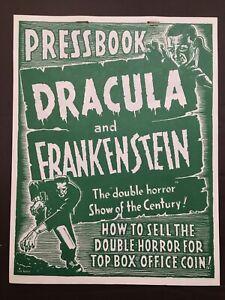 ORIGINAL Dracula and Frankenstein 1950s Pressbooks NOS Warehouse find!  Cooool!