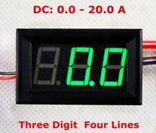 Dc 20a Shunts Numérique LED Ampèremètre Amp Actuel Testeur Mètre Vert 12v 24v