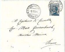71543 - EGEO Nisiro - Storia Postale - Sassone 5 ISOLATO  su BUSTA   1914