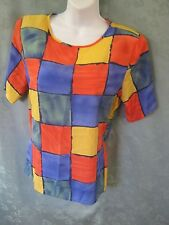 90's Milano Size 12 Collarless Blouse Shell