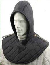 Padded Arming Cap Collar Head Neck Cotton Black SCA*