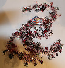 2m (6.5 Ft) Luxury Thick Tinsel Christmas Tree Decoration Spiderman Red Black