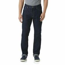 Basic Editions Blue Denim Jeans, 42x32 Slim Fit, Dark Wash, 5 Pocket