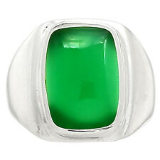 Green Onyx 925 Sterling Silver Ring Jewelry s.7 GROR381