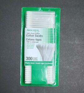 Assured 100%pure Cotton, Cotton Swabs/Q-tips 300ct