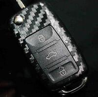 Car Key Fob Carbon Fiber Style Sticker Cover Shell For Golf Polo Passat B5 B6