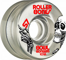 Rollerbones Bowl Bombers Quad Wheels 57mm x 30mm x 101a Clear NEW 8 pack