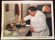 Estate Sale - Vintage 1940s Ristorante D Angelo Napoli  Postcard Unposted