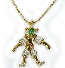 Vintage 1980's Bijoux Cascio Cavalier Goldplated Pendant Necklace