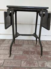 Vintage Metal Typewriter Table with Folding leaves and casters