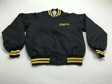 Hartwell Timpte Men's Bomber Jacket Black Yellow Size M Made in USA