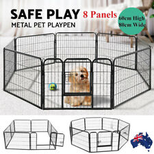8 Panel Pet Dog Playpen Puppy Exercise Fencing Fence Enclosure Cage Heavy Duty!!