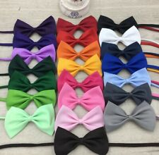 Adjustable Dog Cat Puppy Kitten Pet Kids Boy Bow Tie Ties Bowtie Necklace Collar