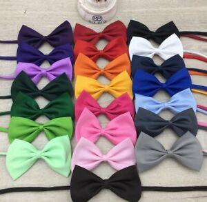 Adjustable Dog Cat Puppy Kitten Pet Kids Boy Bow Tie Ties Bowtie Necklace Collar