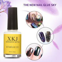 15ml Nail Art Glue for Foil Sticker Nail Tips Adhesive Starry Sky Pattern