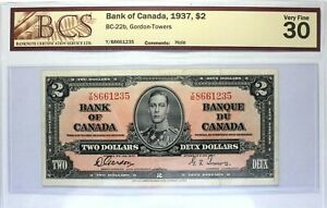 1937 - Bank of Canada - $ 2 - BC-22b - Gordon-Towers - Graded VF-20 by BCS