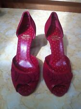 Moschino Shoes 8.5 Red Suede