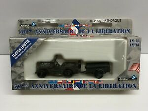 Solido Liberation of France 1944-1994 JEEP US + REMORQUE Limited Edition
