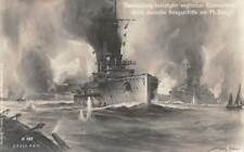GERMAN NAVAL VESSELS SHELLING THE ENGLISH COAST, REAL PHOTO PC, c 1914 -18