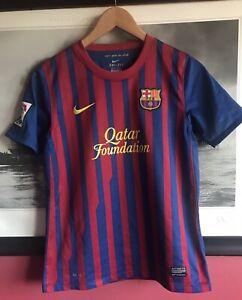 FCB Barcelona Spain Football Shirt Boys 12-13years L 152-158 Cm Nike
