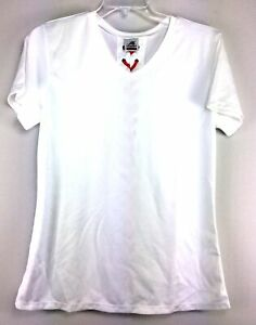 Anaconda Sports Womens Lace Up Back Short Sleeve Volleyball Top White Size M