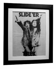 T REX+MARC BOLAN+The Slider+POSTER+AD+RARE ORIGINAL 1972+FRAMED+FAST GLOBAL SHIP
