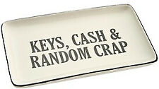 Keys, Cash And Random Crap Ceramic Tray /Plate Men's Gift Father's Day