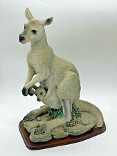 More details for striking & collectible  large resin kangaroo & joey ornamental figurine