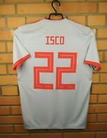 Isco Spain Jersey 2018 2019 Away MEDIUM Shirt BR2697 Soccer Football Adidas