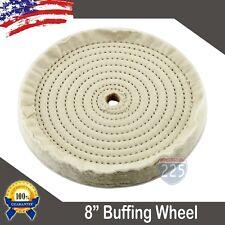 """New 8"""" Buffing Polishing Wheel 5/8"""" Arbor Buffer Polish * US FREE SHIPPING *"""
