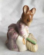Vintage Beatrix Potter Royal Albert Hunca Munca Sweeping Figurine 1989 England