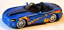 Dodge Viper SRT10 Roadster 2003-10 Rue Tuners bleu bleu métallisé 1:43 Bburago