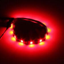 2x Red 12 LED IP65 Waterproof Flexible Strip Lights Car Home 30cm Custom Mod